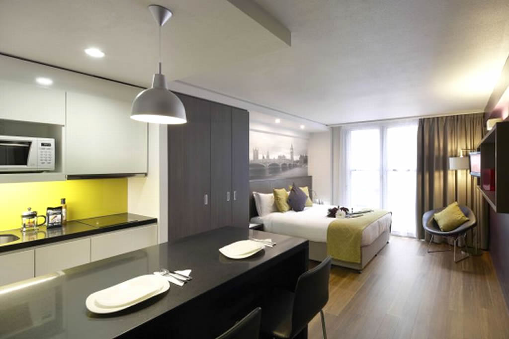 Trafalgar Square Apartments, London. Bedroom Area